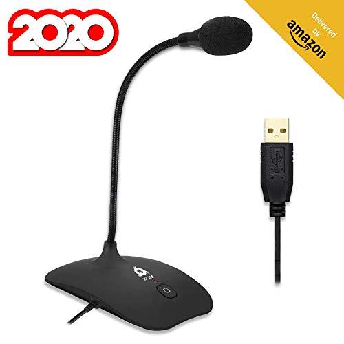 KLIM Talk USB - Standmikrofon PC und Mac - Kompatibel mit jedem Computer - Professionelles USB Mikrofon- High Definition Audio USB Microphone 2020 - Schwarz