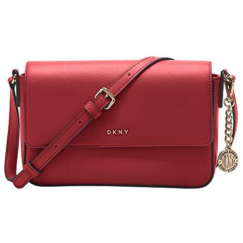DKNY Everyday Multipurpose Crossbody Handbag, Bright Red/Gold Bryant Medium Flap