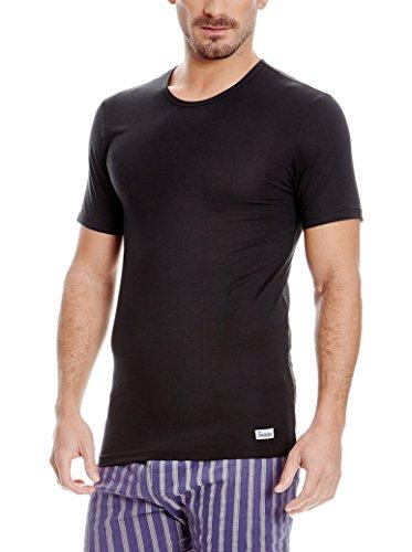 Abanderado Termal Camiseta térmica, Negro, XXL para Hombre