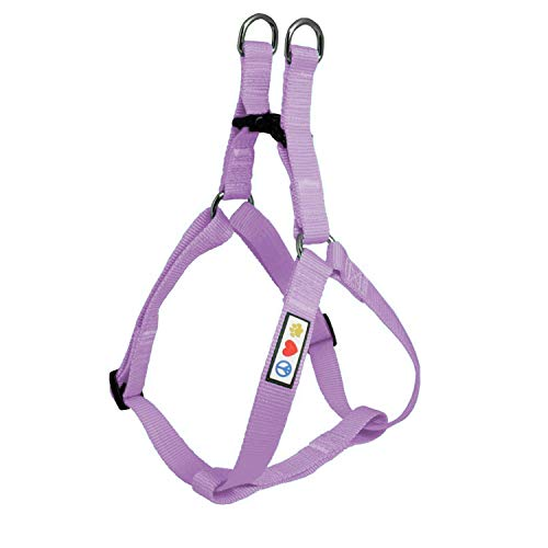 Pawtitas Solid Color Step in Dog Harness or Vest Harness Dog Training Walking Your Puppy Harness Small Dog Harness Orchid Purple Dog Harness