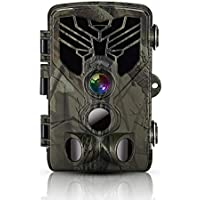 Phocoena 1080P Waterproof Hunting Scouting Camera with Night Vision, 80 FeatTrigger Distance, 120 deg. Wide Angle Lens