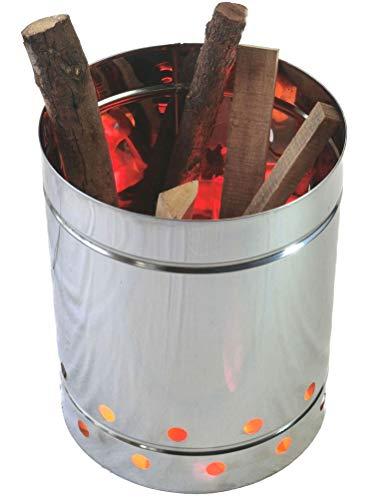 野焼き防止「焼却筒」キャリー焼却炉   ステンレス筒 φ29 (ペール缶サイズ36cm)