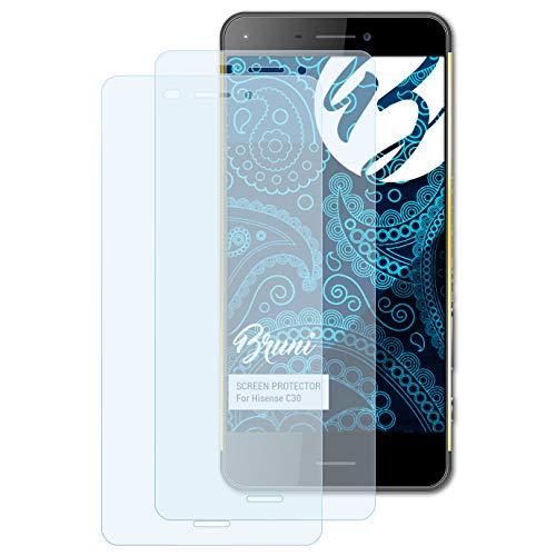Bruni Schutzfolie kompatibel mit Hisense C30 Folie, glasklare Bildschirmschutzfolie (2X)