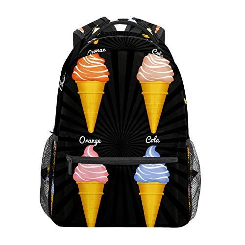 Snow Cones Flavors Pattern School Backpack Large Capacity Canvas Rucksack...
