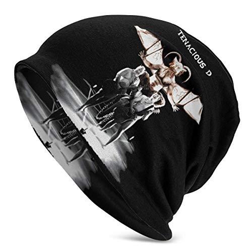 zhkx Moda Tenacious D Sombrero de Punto para Hombres Adultos Patrón Gorra Holgada Sombrero de Cabeza de Cobertura Gorro de Nivel Superior