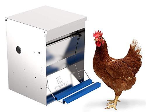 Comedero tolva para aves apertura mecánica Safeed 12k