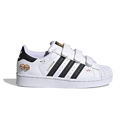 adidas Superstar CF C, Zapatillas Deportivas, FTWR White Core Black Gold Met, 35 EU