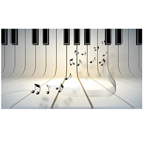 Fototapete Stereoscopic 3D Wallpaper Stereo Piano Notes 3D Decke Wohnkultur Tapete 3D Decke Tapete Für Schlafzimmer Modern-200cmx140cm