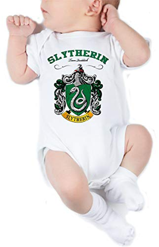 Body de NIÑO Harry Potter Hogwarts Slytherin Gryffindor 008
