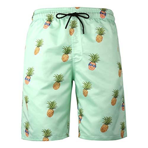 Kariwell Men's Summer Beach Shorts - Swimming Trunks Surf Board Shorts Swimwear Slim Pants for Running Hiking Camping Riding Kari-59