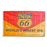 フラッグ 「Phillips 66 フィリップス66」 150×90cm 旗 タペストリー バナー アメリカ アメリカン雑貨
