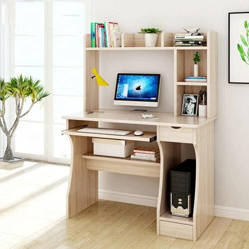 Queiting Study Desk Writing Desk Home Office Desk Gaming desk Wood Computer Desk With Drawer Shelves Desktop PC Table Laboratory Filing Storage Cabinet/Cupboard and Drawers Computer Workstation
