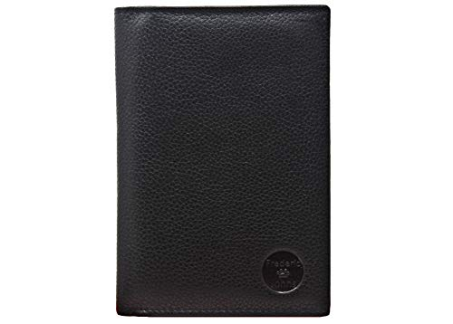 Frédéric Johns - Große Leder Brieftasche - Extra 24 Kartenfächer - Portemonnaies - Geldbeutel - Echt Leder - Ausweishülle - (Schwarz)