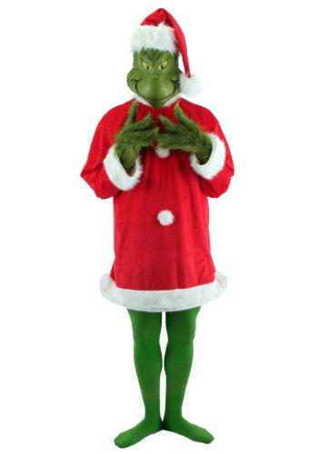 Elope 212216 C-mo el Grinch rob- la Navidad - El Grinch Deluxe Adult Costume - rojo y verde - Talla