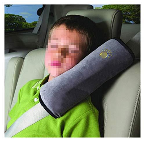 LingDian Cubierta de cinturón de seguridad del bebé Cinturones de seguridad seguros Almohada para niños Hombro Pad Hombro Extensor de cochera para cochecito y asiento de automóvil ( Color : Gray )
