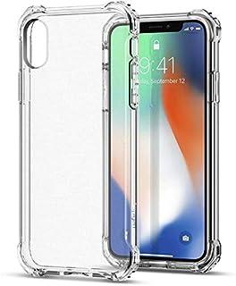 كفر ايفون iPhone X مضاد للصدمات مع زوايا مستديرة توفر حماية عالية لأركان الجهاز ، مع شاشة حماية النانو لحماية شاشة جهازك