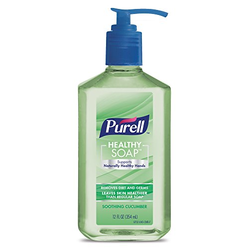 PURELL Brand HEALTHY SOAP, Soothing Cucumber Fragrance, 12 fl oz Soap Counter Top Pump Bottles (Pack of 2) - 9702-06-EC