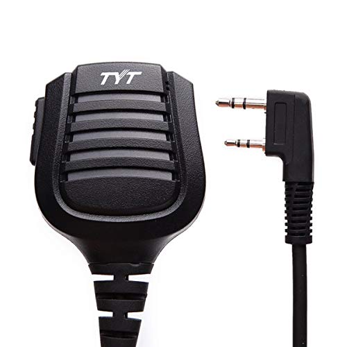 Authentic Genuine TYT IP57 Waterproof Remote Noise-Cancelling Speaker Microphone 2 Pin for TYT Most of Two Way Radio TH-UV8000E Digital MD-380 MD-390 Kenwood Baofeng UV-5R etc.