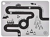 OyOy Mini Adventure Placemat: Kinder Baby Platzset mit Strasse Abwaschbar Abwischbar 100% Silikon 34x45x0,15cm - 1100956
