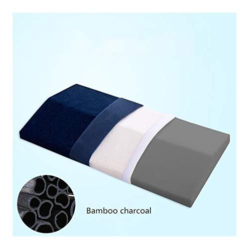 Xnhui Orthopedic Pregnant Women Lumbar Pillow Slow Rebound Memory Foam Sleep Charcoal Return Pillow Cervical Health Pillow Pain Issue (Color : Nave Blue Bamboo, Size : 60x30cm)