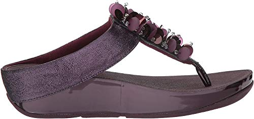 FitFlop Women's Boogaloo Toe-Post Sandales - Deep Plum, Violet, 36
