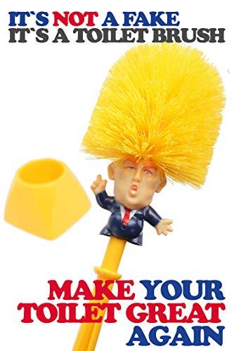 WC-Bürste Donald Trump Toilettenbürste Klobürste Bad Badezimmer Gäste-WC Toilette Geschenk Scherzartikel Gadget Halter Garnitur Badaccessoires Spaßartikel
