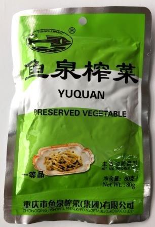 魚泉 (FISHWELLBRAND) ?泉?菜 YUQUAN PRESERVED VEGETABLE ザーサイ 80g