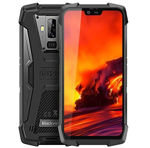 Blackview BV9700 Pro 4G outdoor handy Ohne Vertrag - 5,84 Zoll FHD + IP68 wasserdichtes Robust Smartphone, Helio P70 6 GB + 128 GB Android 9.0, kabellose Aufladung, Luftqualität und Pulsmesser GPS NFC
