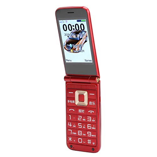 Fournyaa Teléfono, gsm Desbloqueado 32 + 32MB Tarjeta Dual Teléfono de Respaldo con Doble Modo de Espera Teléfono móvil con cámara Grabadora de Voz Linterna para la Escuela para(European regulations)