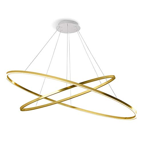 Nemo Lighting Ellisse Double Dimmer LED lampada a sospensione oro