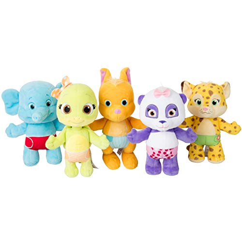 Snap Toys Word Party 7' Plush Baby Animals, 5 Pack - Lulu, Bailey, Franny, Kip and Tilly - from The Netflix Original Series - 18+ Months