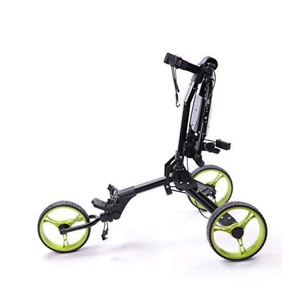 WFLJ-Chariot-de-Sac-de-Golf-Lger–3-Roues-Chariot-de-Golf-Pliant-Compact-avec-Porte-BoissonsSupport-de-TlphoneTableau-DaffichageFrein–Pied-Convient–Toutes-Sortes-de-Sacs-de-Golf
