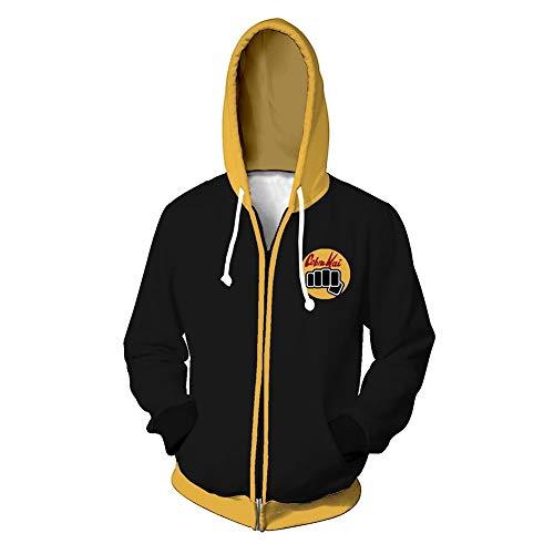 Karate Kid Hoodie Cobra Kai Kapuzenpullover Herren 3D Druck Grafisches Pullover Langarm Sweatshirt Mit Taschen 2XL