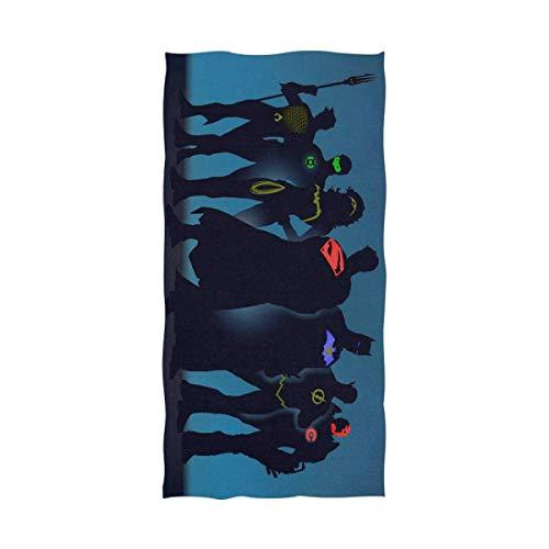 FETEAM Superhéroes Liga de la Justicia Toalla de baño Toalla de Playa Uso como Yoga Viajes Camping Gimnasio Toallas de Piscina en Carrito de Playa Sillas de Playa Talla única