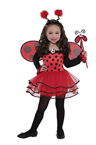 Christy de filles Ballerine Costume de coccinelle - 4 - 6 ans - version anglaise