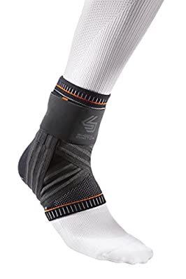 Shock Doctor Ultra Knit Ankle Brace W/figure 6 Strap & Stays Black, Medium