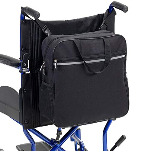 WHIHO Rollstuhltasche – Rollstuhl-Aufbewahrungstasche – Reise-Messenger Rucksack mit leicht zugänglichen Tasche & Taschen für Handicap und ältere Menschen