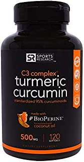 Turmeric Curcumin, C3 Complex, 500 mg, 120 Softgels