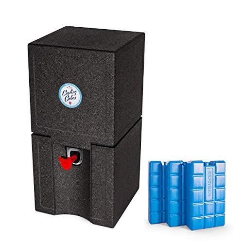 Enfriador de cerveza de Cooling Cubes, para 5litros, enfriador de barriles de cerveza, color negro