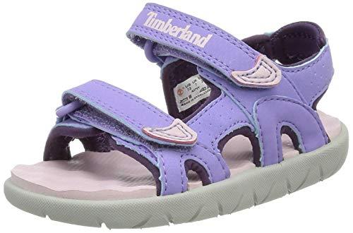 Timberland Perkins Row 2-Strap (Toddler), Sandali a Punta Aperta, Viola Light Purple, 28...