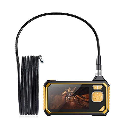 Hand LCD Endoskop Kamera,Halbsteife Kabel Industrie Endoskopkamera 4,3 Zoll-LCD-Bildschirm,Boreskop Digitales Inspektionskamera mit 6 LED Licht Wasserdicht 1080P HD Kamera(3M)