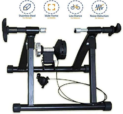 GHDE & Home Trainer Fiets Smart en hometrainer, magnetisch, verstelbaar, turbo-fietstrainer, zwart