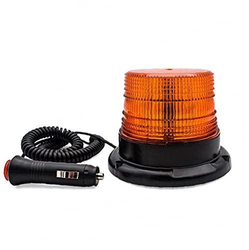 Beacon LED Luz ámbar parpadeante luz estroboscópica Carretilla elevadora coche de seguridad de emergencia Advertencia 12-80V luz para ATV Camiones tractores, flash y luz de navegación
