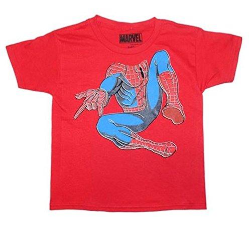 Spiderman Headless Body Little & Big Jungen T-Shirt Top (Large 10/12)