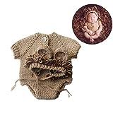 YeahiBaby Tutina realizzata a maglia per neonato, motivo leoncino, costume scenico unisex per fotografia neonato