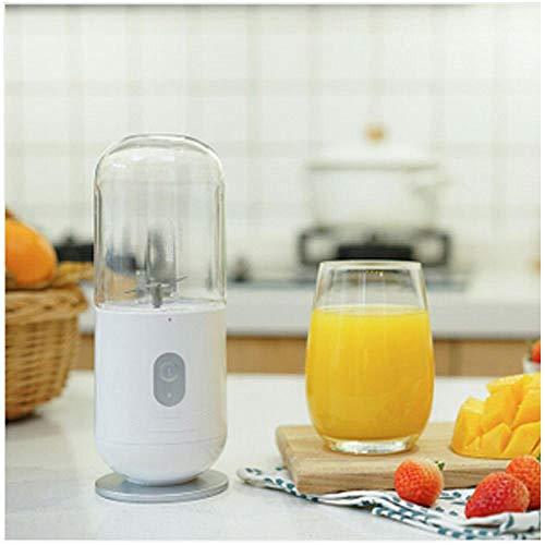 Sapcentrifuge voor fruit draagbare oplaadbare USB-mini-fruitsapbeker wit