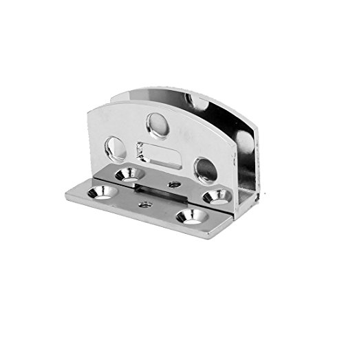 Aexit Cupboard Metal Gate Hardware 90 Degree Ball Bearing Door Hinge Silver Tone 50mm x 46mm Gate Hinges x 14mm