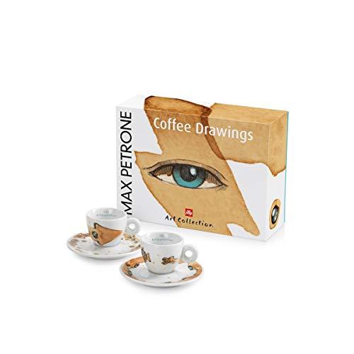 illy Set 2 tazzine da caffè Espresso Art Collection Collezione Max Petrone
