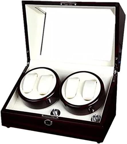 Caja de reloj – Caja de exhibición de reloj giratoria mesa de agitador giratoria caja de almacenamiento de joyería caja de reloj giratoria caja de reloj (color: B)