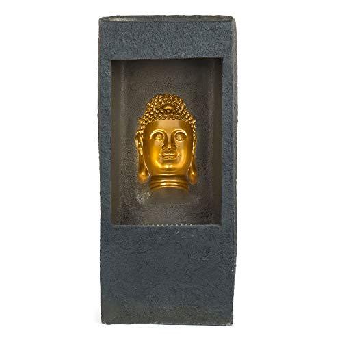 pajoma XXL Brunnen Buddha Gold, 99 cm Höhe, mit Bewegunseffekt